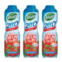 Teisseire - Pack de 3 sirops 0% de sucre fraise