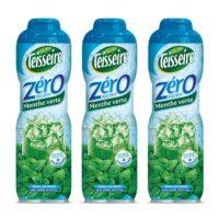 Teisseire - Pack de 3 sirops 0% de sucre menthe verte